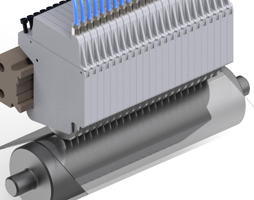 Messerkassette montiert Messerwelle Folienschnitt QMK130 Quetschschnitt